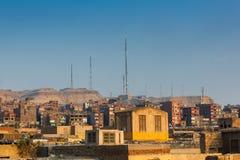 Sikt på slumkvarter i Kairo Fotografering för Bildbyråer
