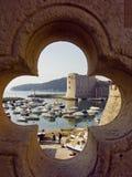 Sikt på staden av Dubrovnik, Arkivbilder