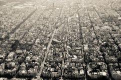 Sikt på staden från höjd Arkivfoton