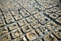 Sikt på staden från höjd Royaltyfri Bild