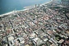 Sikt på staden från höjd Royaltyfri Foto