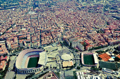 Sikt på staden från höjd Arkivbilder