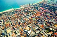 Sikt på staden från höjd Royaltyfri Fotografi