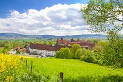 Sikt på staden Salem, Tyskland royaltyfri fotografi