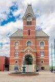 Sikt på stadshuset av Fredericton i Kanada arkivbild