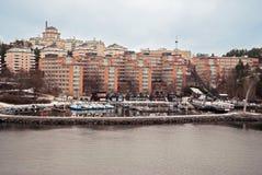 Sikt på Stockholm förort Royaltyfri Foto