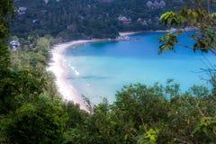Sikt på stranden royaltyfri fotografi