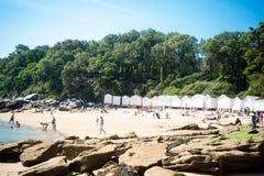 Sikt på stranden av l `-Anse rouge arkivfoto