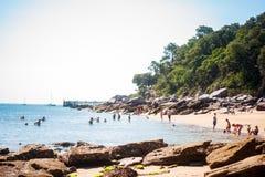 Sikt på stranden av l `-Anse rouge arkivbild