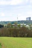 Sikt på Stuttgart Arkivfoton