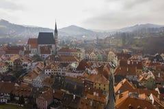 Sikt på tjeckiska Krumlov Royaltyfria Bilder