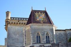 Sikt på Uzes Frankrike Royaltyfri Fotografi
