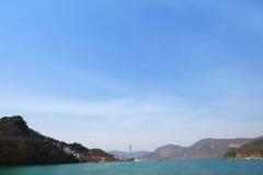 Sikt på vägen till den Namiseom ön Royaltyfri Foto