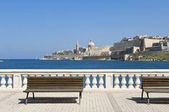 Sikt på Valletta, Malta Fotografering för Bildbyråer