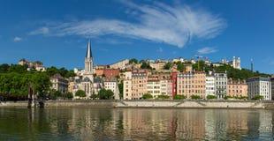 Sikt på Vieux Lyon Arkivbilder
