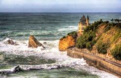 Sikt på villan Belza i Biarritz - Frankrike Royaltyfria Foton