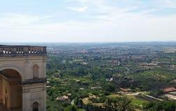 Sikt på villan D'Este Royaltyfria Bilder
