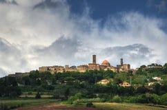 Sikt på Volterra, Tuscany, Italien Royaltyfri Fotografi