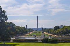 Sikt på Washington Monument från Capitol Hill, USA royaltyfria foton