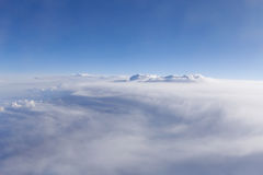 Sikt på moln Royaltyfria Foton