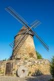 Sikt på Moulinen Cugarel i Castelnaudary - Frankrike Arkivbilder