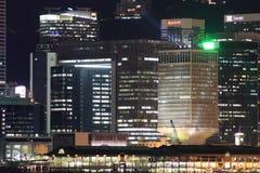 Sikt på natten Hong Kong Arkivfoto