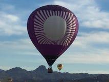Sikt panorama- härlig spektakulär sikt, ballongritt Arkivfoton