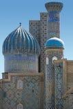 Sikt Sher-Dor i Samarkand Arkivbilder