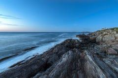 Sikt som är södra från jättetrappa Maine Royaltyfri Fotografi