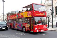 Sikt som ser bussen Royaltyfri Bild