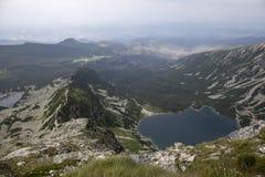 Sikt som svärtar dammet från Tatra-berg Arkivfoto
