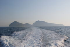 Sikt till ön av Capri Royaltyfria Bilder