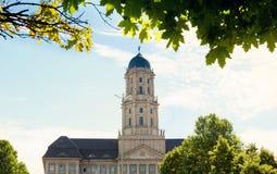 Sikt till Altes Stadthaus i den Berlin closeupen fotografering för bildbyråer