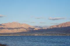 Sikt till Aqaba Arkivfoton