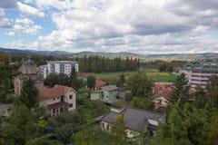 Sikt till Banja Koviljaca royaltyfria bilder