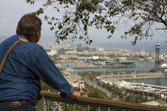 Sikt till Barcelonaen Royaltyfri Fotografi