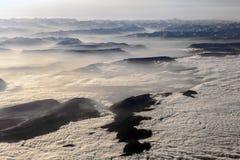Sikt till berg av fjällängarna Arkivbild