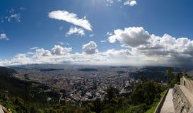 Sikt till Bogota Royaltyfri Fotografi