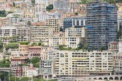 Sikt till byggnaderna av Monte - carlo i Monaco, Monaco Arkivfoton