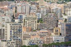 Sikt till byggnaderna av Monte - carlo i Monaco, Monaco Arkivfoto