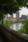 Sikt till Castlevecchio Arkivbild