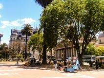 Sikt till Catedral Metropolitana de Buenos Aires royaltyfria foton
