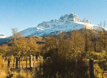 Sikt till Cerro Castillo arkivbilder