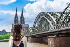 Sikt till Cologne fotografering för bildbyråer