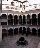 Sikt till Dar Mustapha Pacha Palace, Casbah av Algiers, Algeriet Arkivfoton