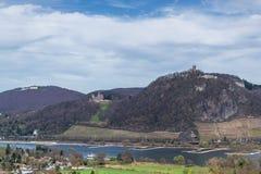 Sikt till de sju bergen royaltyfria foton
