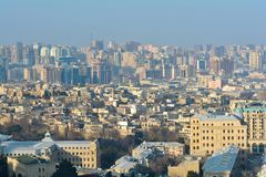 Sikt till den Baku staden, Azerbajdzjan Royaltyfri Fotografi