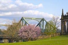 Sikt till den Glienicke bron, Potsdam Royaltyfria Foton
