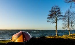 Sikt till det baltiska havet Arkivfoto