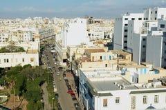 Sikt till det historiska centret av Sfax i Sfax, Tunisien arkivbild